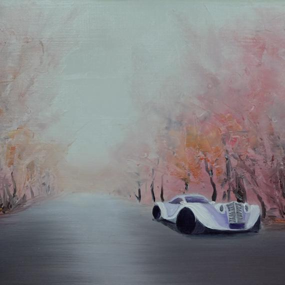 Картина «Осень в ретро-стиле»