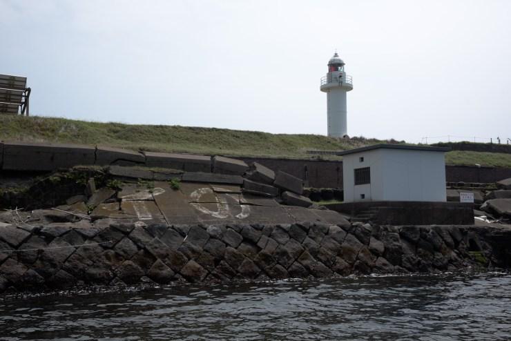 第二海堡の灯台を海から