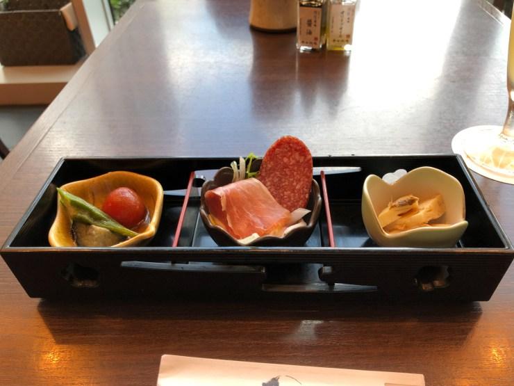 平田牧場 極の極上金華豚しゃぶしゃぶ膳の前菜