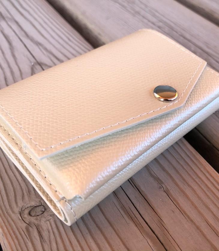小さい財布パールアイボリー