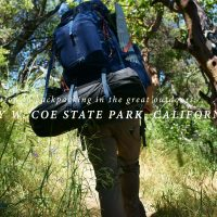 Introduction to backpacking in the great outdoors: Henry W. Coe State Park