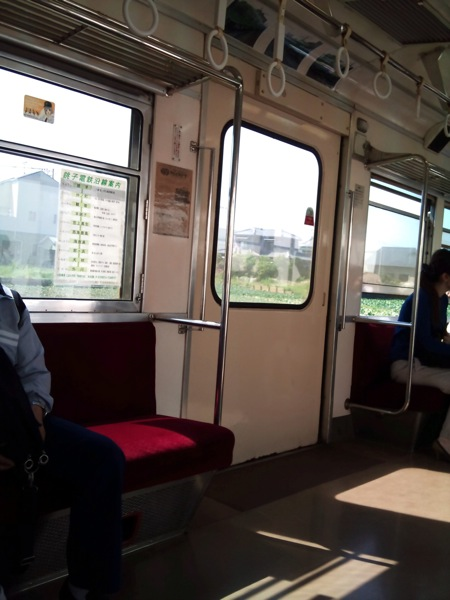 銚子電鉄車内