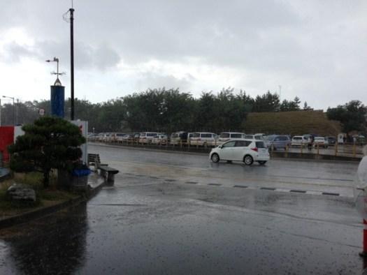鳥取砂丘急な雨
