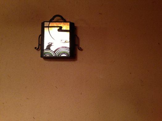 面影屋珈琲店の壁飾り 月とウサギ