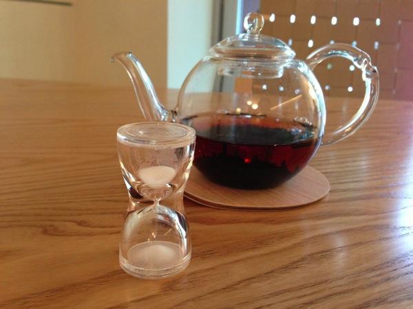 お茶と砂時計