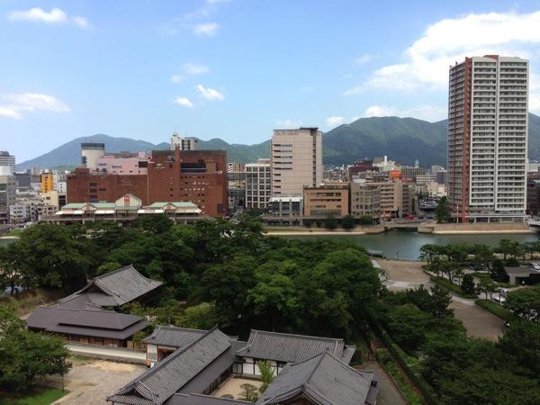 小倉城から紫川方面