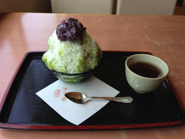 氷富士とほうじ茶