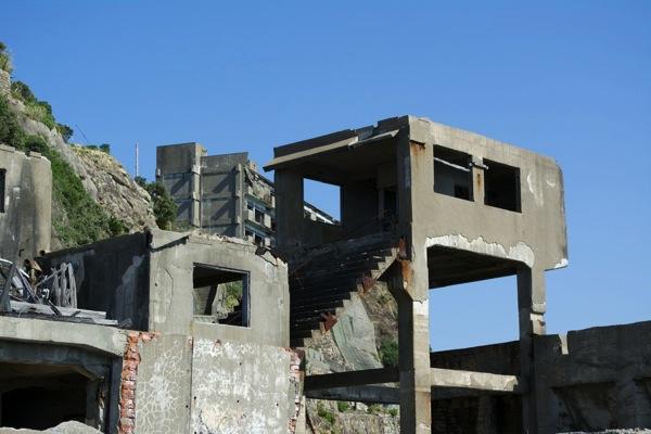 第二竪穴桟橋と階段