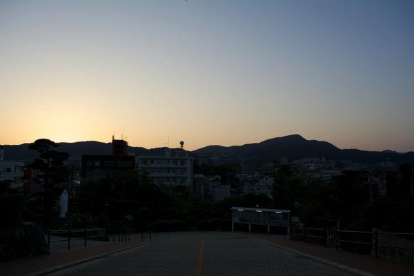 浦上天主堂からの町の眺め
