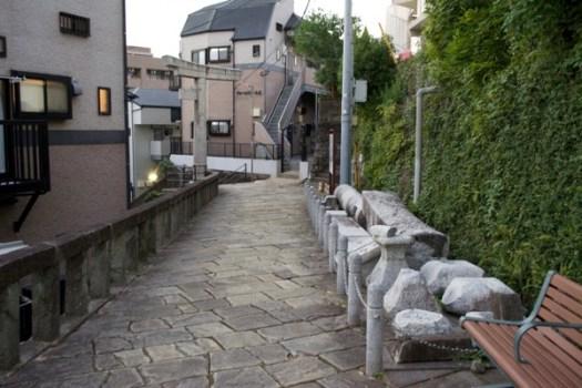 山王神社一本柱鳥居の二本目の残骸