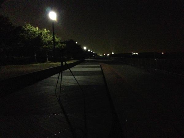 夜の城南島海浜公園