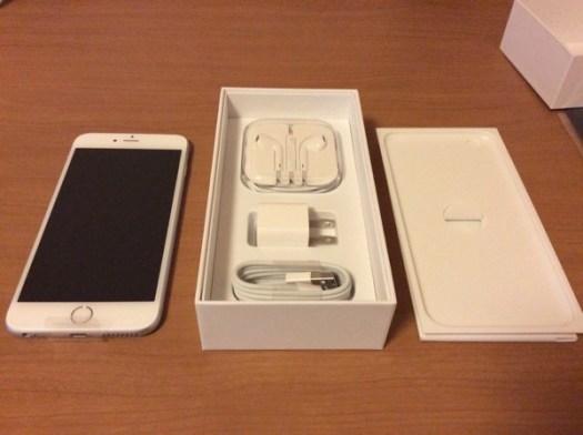 iPhone 6 Plus開封。