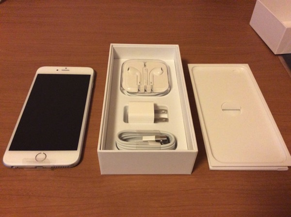 iPhone 6 Plus開封。