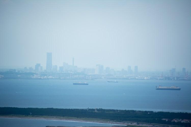 東京湾観音からの眺め