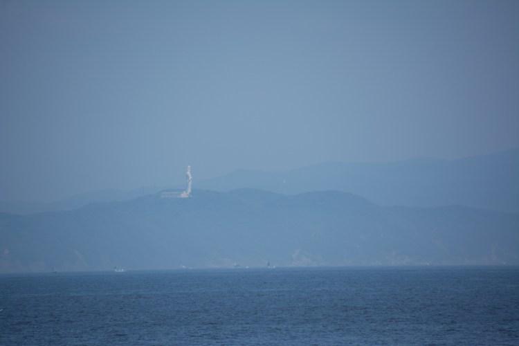 観音崎から眺める東京湾観音