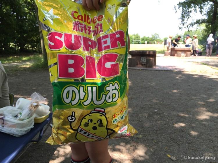 ポテトチップス SUPER BIGのりしお