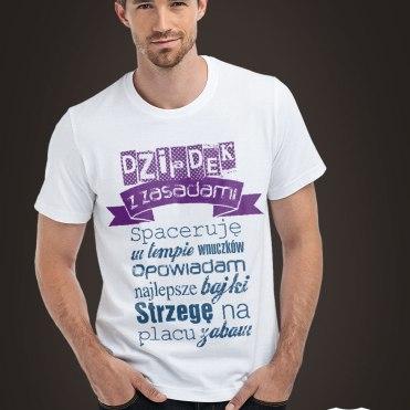 Koszulka na Dzień Dziadka Dziadek z zasadami
