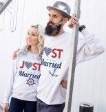 """Bluzy dla nowożeńców z nadrukiem """"Just married"""""""