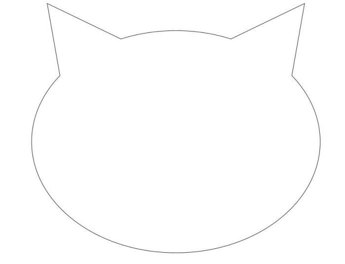 аппликация головы кота