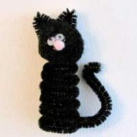 Кот из помпона