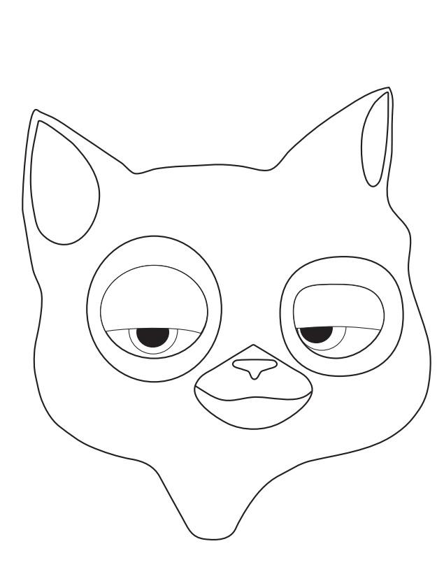 кот маска