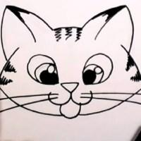 Как нарисовать мордочку кошечки