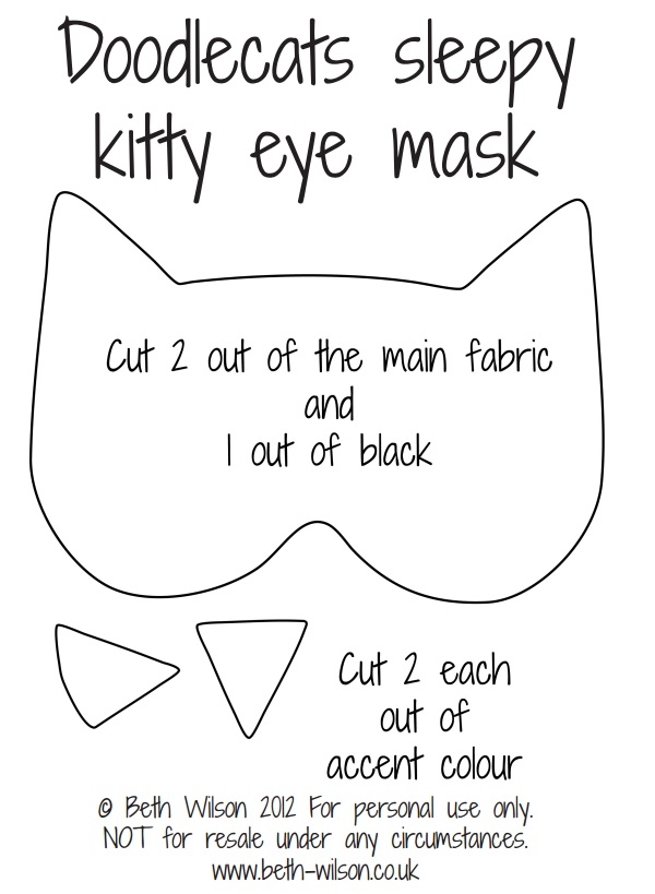 выкройка для маски