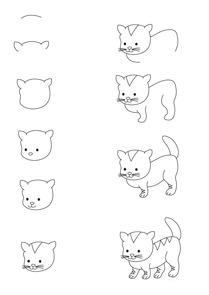 нарисовать котёнка