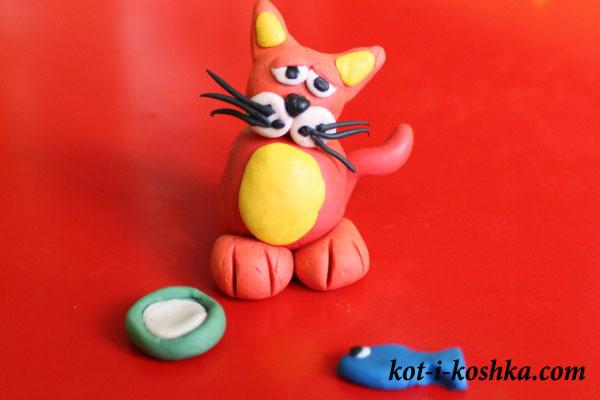 кот-из-пластилина