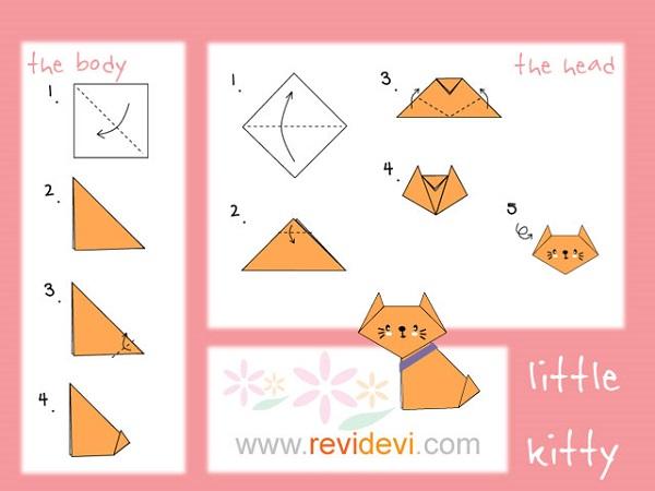 кот оригами мастер класс