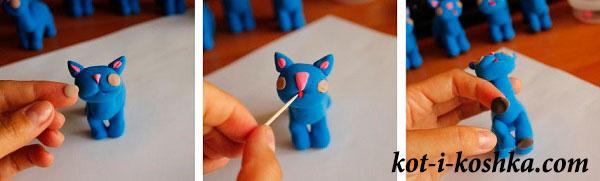 пластилиной кот