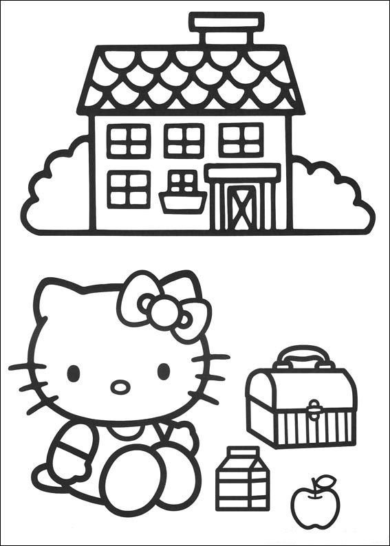 раскраски hello kitty