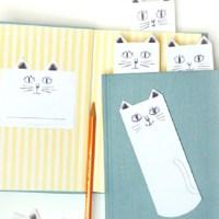 Закладка из бумаги Кот