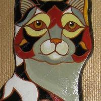 Кошка из солёного теста