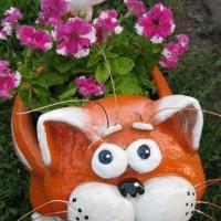 Садовый горшок Кот