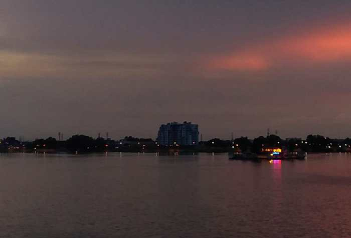 Night View of Kishore Sagar Talav