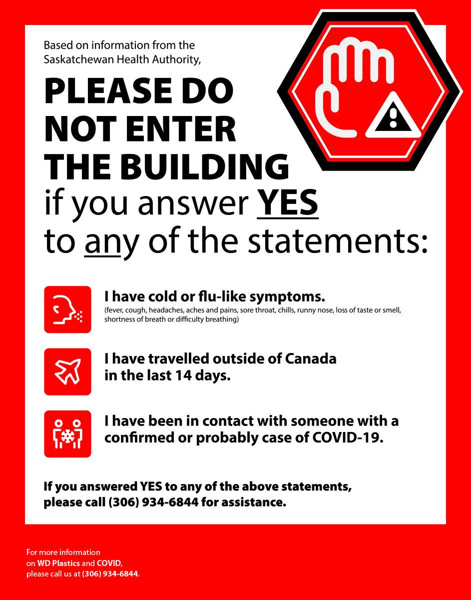 covid-19 signs saskatoon