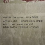 The Names of people who mixed up with the exibition