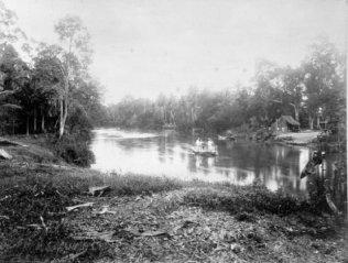 1898 The Rambutan-spring over the 'Padang' River, Serdang