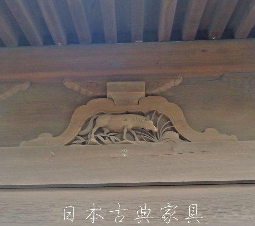 英勝寺 本堂の十二支丑の彫刻