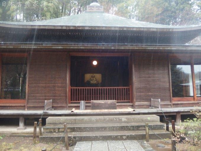 東慶寺 雨の本堂