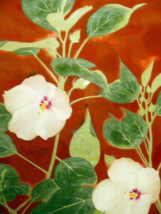 「花」部分 奥村土牛 山種美術館所蔵 ブロガー内覧会で撮影