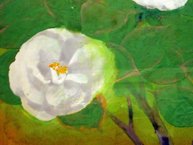 「早春」部分 奥村土牛 山種美術館所蔵 ブロガー内覧会で撮影