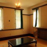 和室にシャンデリアのコディネートが素敵 旧華頂宮邸