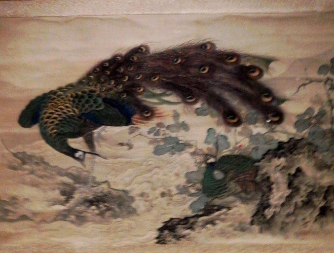 岡本秋暉「孔雀図」山種美術館所蔵