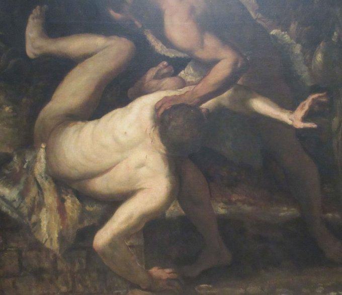 ヴェネツィア・ルネッサンスの巨匠たち展 ヤコボ・テントレット「アベルを殺害するカイン」