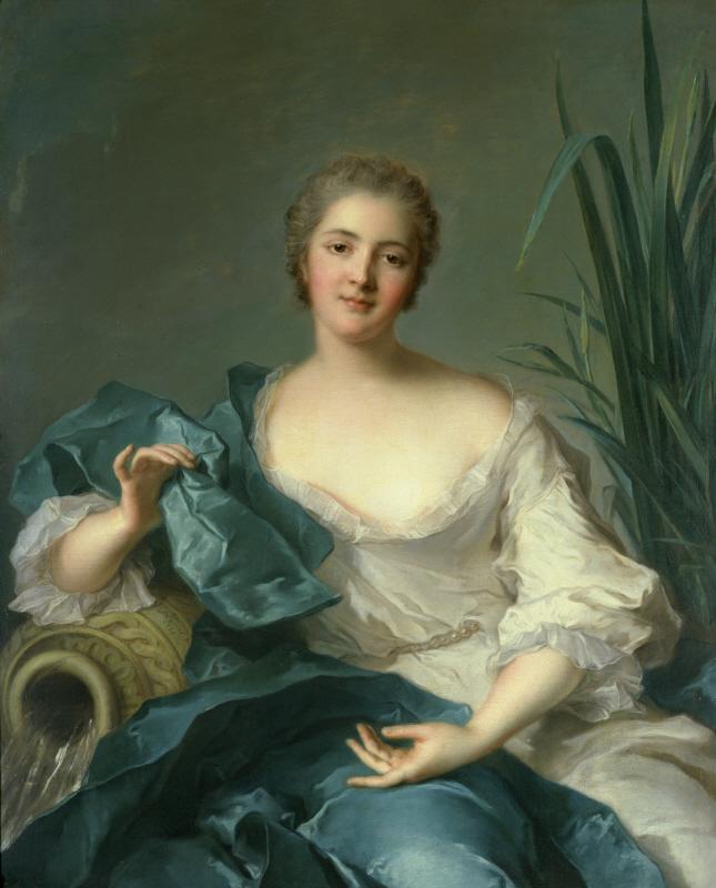 ジャン=マルク・ナティエ「マリー=アンリエット・ベルトロ・ド・プレヌフ夫人の肖像」