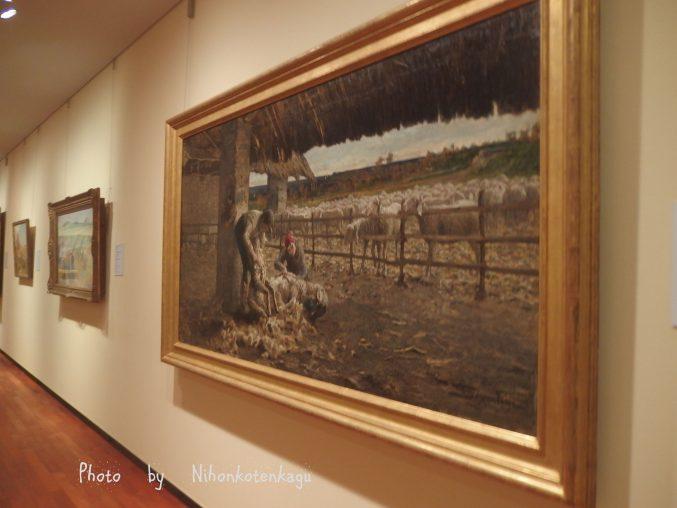 セガンティーニ「羊の剪毛」国立西洋美術館所蔵