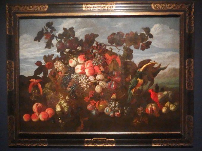 アブラハム・ブリューゲル「果物の静物がある風景」ブリューゲル展
