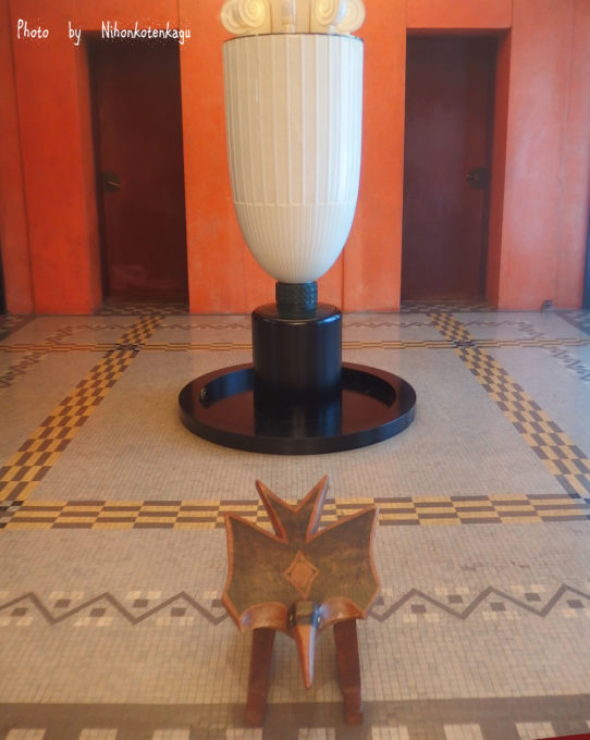 東京都庭園美術館 アールデコの香水塔 ブラジルのいす
